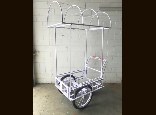 Mobile Push Cart Dome Canopy