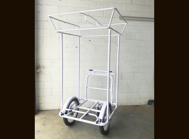 Mobile Push Cart Square Canopy