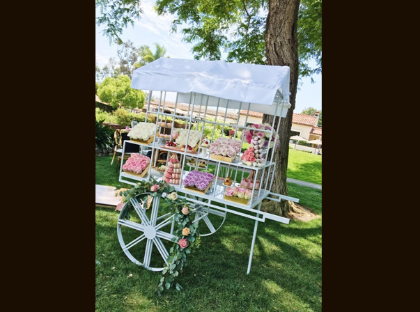 Steel Flower Cart