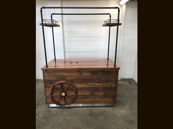 Rustic Coffee Trolley