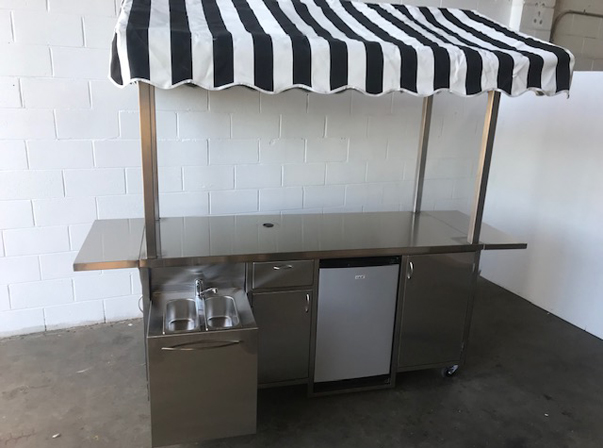 Waratah Hotel Medium Coffee cart with Canopy