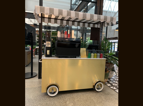 Small Gold Coffee Cart