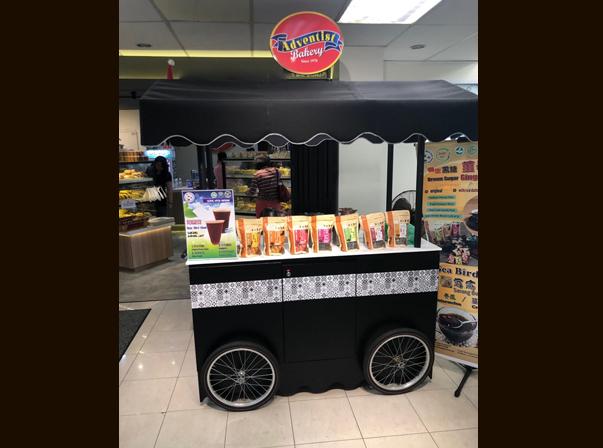 Black Merchandise cart