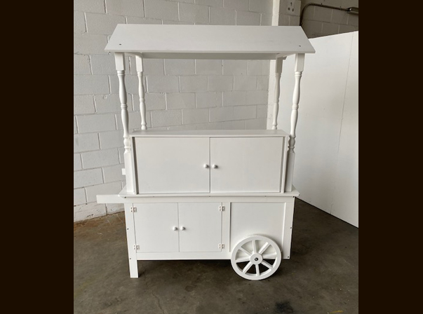 Model C Timber Merchandise Carts with Tiered Shelving