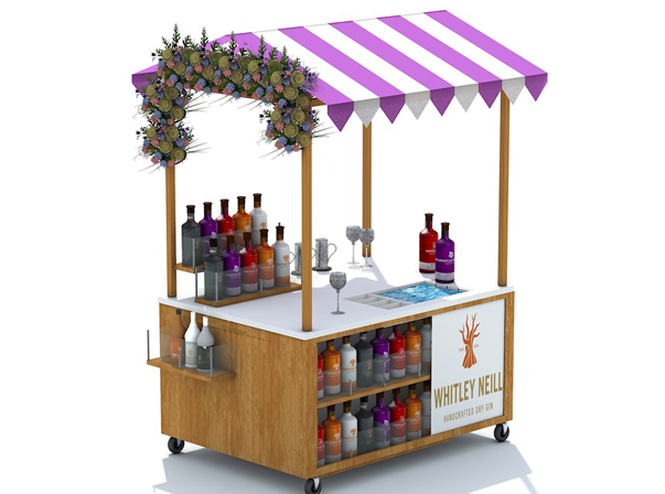 Beverage Sample Cart