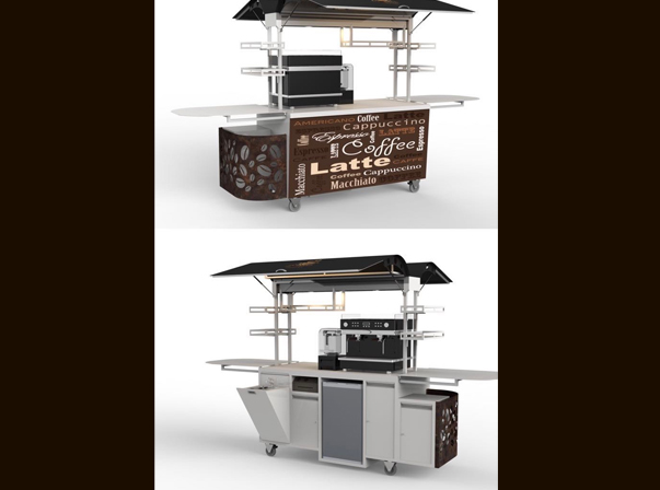 Medium X-Line Coffee Cart