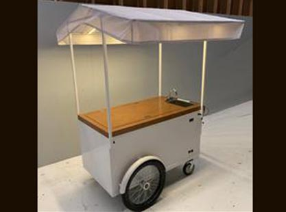 Battery Ice Cream Cart with Sink and Canopy