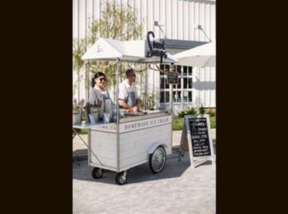 Home Made Ice Cream Cart