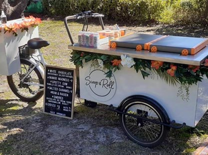 Scoop and Roll Beverage Cart