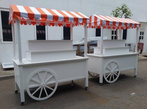 Custom Merchandise Carts Orange Canopy