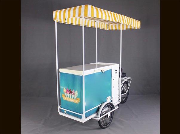 Ice Cream Bike Battery Yellow Canopy