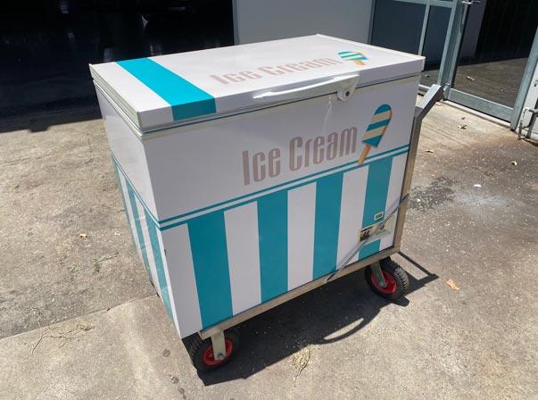ICE CREAM PUSH FREEZER CART $1990