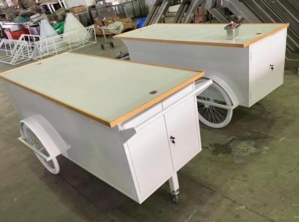 White Merchandise Carts 2000mm