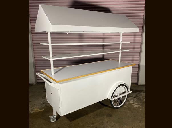 Merchandise Cart 2000mm with Canopy and Adjustable 2 Tire shelving