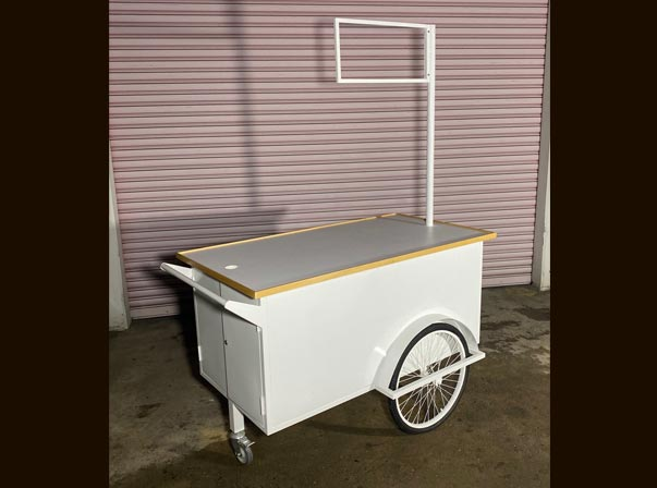 Merchandise Trolley 1500mm with Single Sign Post