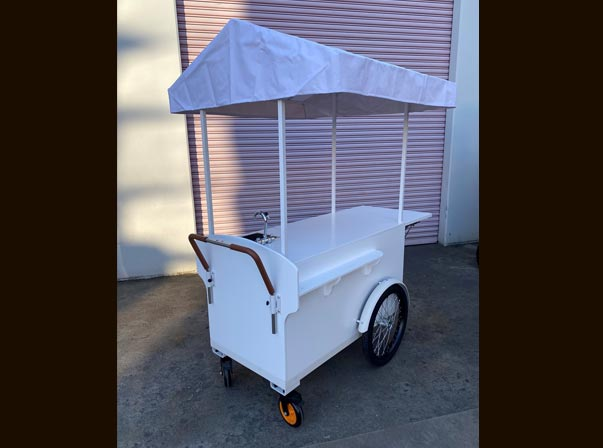 Small Timber Coffee Cart